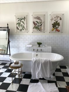 You can't go wrong with black and white checkered tile!! Classic.  #classicbathroom #blackandwhite #bathroomideas