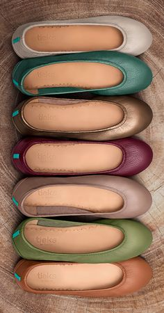 Winter, spring, summer, and fall—these classic earth tones are perfect for all. | Tieks Ballet Flats