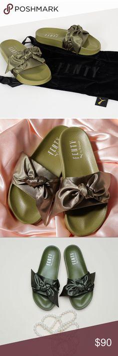 PUMA x Fenty Rihanna Bow Slide Olive PUMA x Fenty Rihanna Bow Slide Olive Published 8th March 2017, size 6 ( with dust bag , but no box) puma fenty Shoes Slippers