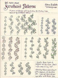 Scrollwork doodles