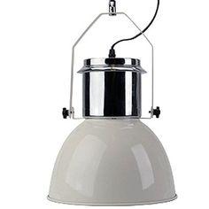 K7plus® Hängeleuchte - Elegante moderne Fabrik Industrielampe - Pendelleuchte - Hängelampe - Deckenlampe - Loft Lampe im Retro / Industrie Design Farbe: Elfenbein creme lackiert