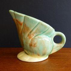 Vintage Diana Pottery Australia Drip Glazed Vase.  Australia Pottery.