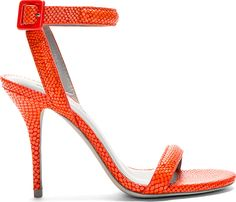 Alexander Wang - Vermillion Red Leather Karung Sandals
