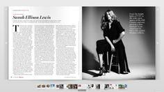 "Article feature on Sarah Lewis in ""Tribeza"" magazine's style issue // pages 32 and 33"