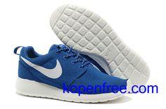 Kopen goedkope dames Nike Roshe Run Schoenen (kleur:flirt,binnen-blauw;logo,tong-wit) online in nederland.