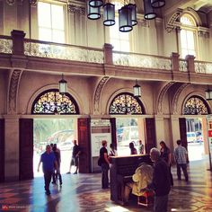 Luz Train Station, view from the hall - Sao Paulo, Brazil