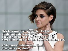 "Kristen Stewart Just Gave Us the Best Reason to Ditch ""Sexy"" Beauty Standards.  Article in Marie Clair/mention on mic.com"