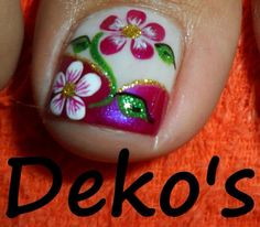 Bildergebnis für Nageldeko & # s 2014 Nails French Pedicure, Pedicure Nail Art, Toe Nail Art, Manicure, Fingernail Designs, Toe Nail Designs, Pretty Toe Nails, Cute Nails, Summer Toe Designs