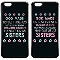 BFF Best Friend Sisters Cute God Made Us Best Friends Funny Couples Friendship Stuff Sister Cousins Matching Thing for Girls Teens for Teen Girls Black Bumper Case for iPhone Bff Iphone Cases, Iphone Se, Bff Cases, Iphone 8 Plus, Funny Phone Cases, Diy Ipod Cases, Couples Phone Cases, Phone Covers, Best Friend Cases