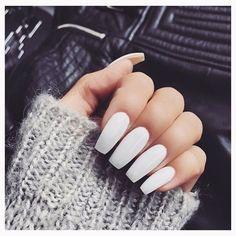 """❄️White nails ❄️ . Some of My favorite white nail polishes! . 1. Sally Hansen Hard as Nails Xtreme Wear Nail Polish in White On, $2.50,  2.OPI Nail…"""