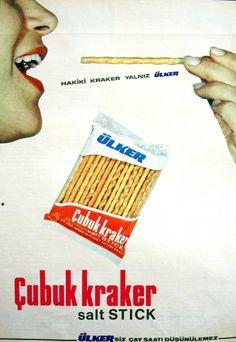 OĞUZ TOPOĞLU : ülker'siz çay saati düşünülmez çubuk kraker 1970 s...