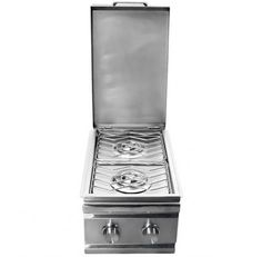 RCS Stainless Natural Gas Double Side Burner - Slide-In | RCRDB1