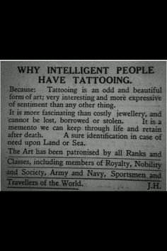 Intelligent people have Tattooing #tattoos