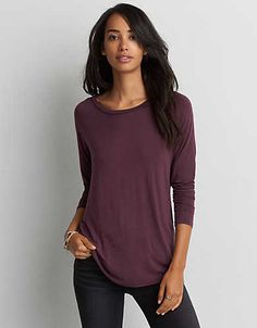 Our signature super-soft jersey is designed to drape flawlessly in an array of essential silhouettes. size xs American Eagle