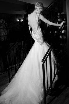 55 vestidos de noiva com decote nas costas - Decote profundo & dramático
