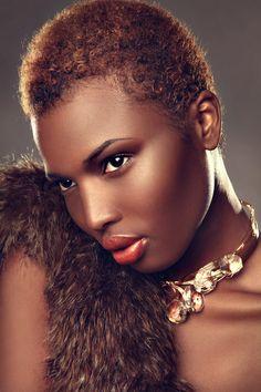 beauty-editorial-Pride Magazine February 2012 3 brown skin make up deep skin tone Dark Skin Tone, Brown Skin, Twa Haircuts, Sassy Haircuts, Short Haircuts, Natural Hair Cuts, Natural Curls, Natural Beauty, Au Natural