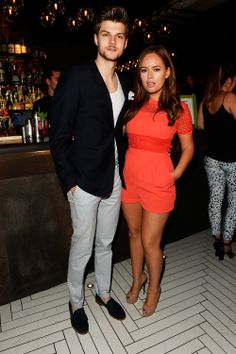 Tanya Burr stepped out in style last night to the and Shortlist I love her coral Playsuit! Summer Outfits, Casual Outfits, Fashion Outfits, Fashion Sets, Kendall Jenner Style, Kris Jenner, Tanya Burr, Stylish Couple, Casual Street Style