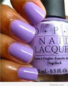 Purple manicure – Amazing