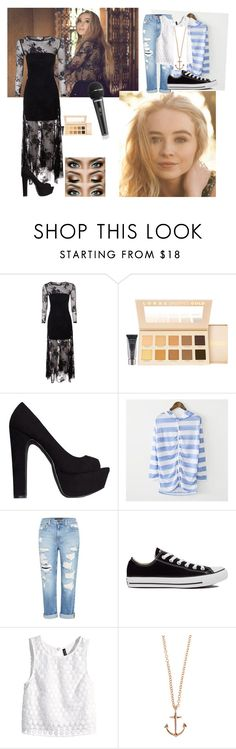 """""""Sabrina Carpenter {Eyes Wide Open}<3"""" by simplykk ❤ liked on Polyvore featuring True Decadence, LORAC, Nly Shoes, Beccgirl, Genetic Denim, Converse, H&M and Minor Obsessions"""