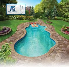 Fiberglass Pool Ideas fiberglass pool with tanning ledge google search Wellspring Fiberglass Pool Photo
