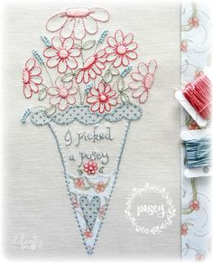 Jenny of ELEFANTZ: The Stitchery Club (September 2106) Join and receive 6 new pdf patterns every month!