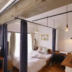 Y邸・漆喰の壁に囲まれて暮らす、光と風あふれる家の部屋 ベッドスペース