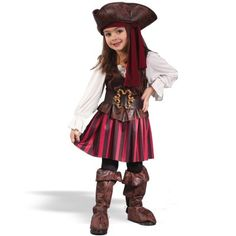 Girl High Seas Buccaneer Toddler Costume - Toddler (3-4T) - Kid's Costumes:Amazon:Toys & Games