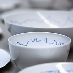 BIG + KILO designed Big Cities tableware for Rosenthal's TAC collection