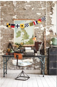 A realm of curiosities and intrigue, antique maps and globes are a hot topic this summer A realm of curiosities and intrigue, we're mad on decorating with antique maps and globes this summer. See the full feature on our website: http://www.homesandantiques.com/feature/antiques/textiles/how-decorate-antique-maps-and-globes