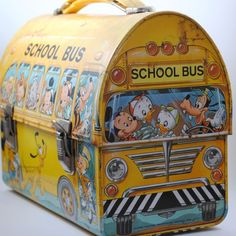Vintage Disney School Bus Dome Lunchbox by AnchorBeachVintage, $120.00