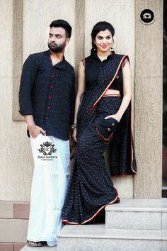 Telugu Singer Sravana Bhargavi Photos In Black Saree Saree Blouse Neck Designs, Trendy Sarees, Indian Bridal Fashion, Black Saree, Blouse Models, Saree Look, Elegant Saree, Couple Outfits, Saree Styles