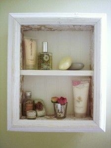 Box Shelf Tutorial. Doing this in our second bathroom to save floor space