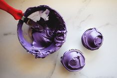 How to Make Purple With Food Coloring (with Pictures) Food Coloring Egg Dye, Food Coloring Mixing Chart, Purple Food Coloring, How To Make Purple, How To Make Frosting, How To Make Greens, Purple Color Chart, Color Mixing Chart, Bright Purple