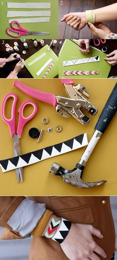 Painted Leather Bracelets | 46 Ideas For DIY Jewelry You'll Actually Want To Wear
