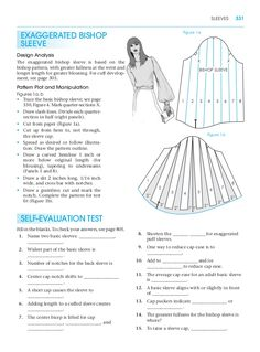 Exaggerated bishop sleeve. Pattern making for fashion design. Learn to make your own clothes at https://payhip.com/patternmaking , the professional German pattern cutting system.