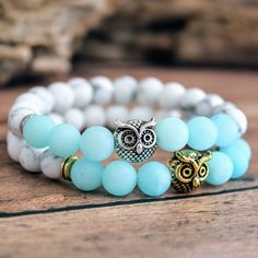 New Two-Tone Owl Bracelets!   Choose from antique gold or silver metal finish!!