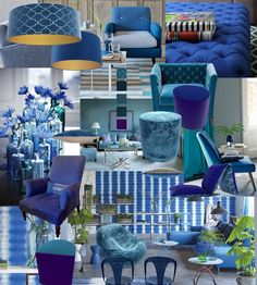 TheVelvetLab® has a stunning range of interior products in a palette of intense blues that will help you to celebrate your interior style this New Year. The stunning collection of cushions, shades, stools and low loungers are designed with the most sumptuous velvets in gorgeous blue shades and a variety of striking patterns.