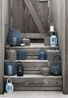 Hyacinth's Cottage Home  Inspiration: Miss Mustard Seed's Milk Paint color Bergere - smoky blue gray
