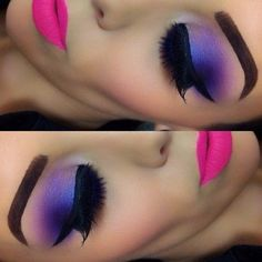 Love the pink and purple! #eyes #makeup #pink