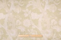 Fabricut Collier Campbell Batik Tree Printed Linen Drapery Fabric in Natural Glazes $14.95 per yard