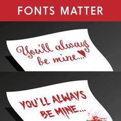 At least it isn't Comic Sans ¯\_(ツ)_/¯