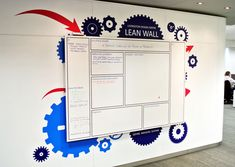 Wall mounted custom printed whiteboards help you manage production planning, sales tracking and staffing with a fresh, clear layout - no more grid tape! Retail Design, Layout, How To Plan, Wall, Flow, Prints, Safety, Culture, Awesome