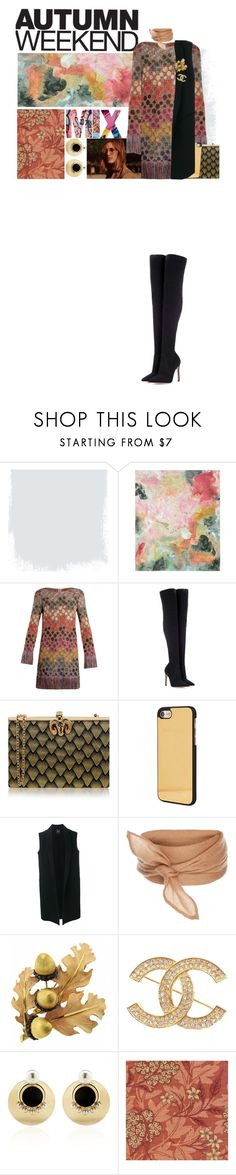 """""""Autumn Weekend"""" by hourieh ❤ liked on Polyvore featuring Pottery Barn, Missoni, Gianvito Rossi, Wilbur & Gussie, Palm Angels, Theory, Buccellati, Chanel, Anton Heunis and William Morris"""