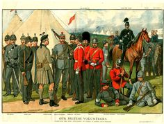 """British (Mostly London) Volunteers around 1880 from the """"Boy's Own Paper"""""""