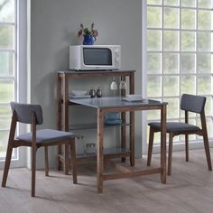 !nspire 3 Piece Breakfast Tabe Set with Built In Shelf and 2 Chairs Canada online at SHOP.CA - 841173018344. Saturday mornings just got a little more pleasant with the addition of this table and shelf combo. The 4-tier shelf is great for s Dining Room Sets