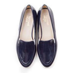 e4a50024514bb5 Charlie - Navy faux shiny leather vegan shoes  vegan  ethical  fashion  www.beyondskin.co.uk