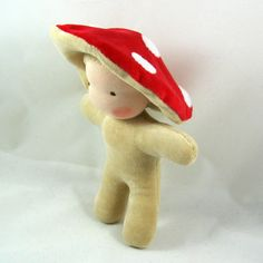 Little Imp Toadstool -Waldorf Inspired Doll - pinned by pin4etsy.com