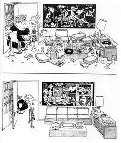 Troppo ordine!  Vignetta di Quino