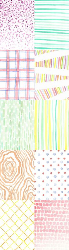 cool idea to do just a simple pattern with watercolors on cardstock for a greeting card