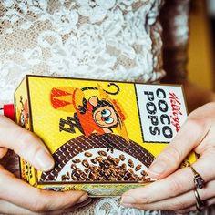 Anya Hindmarch Cereal Box Clutch Bag